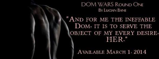 Cover Reveal: Dom Wars by Lucian Bane